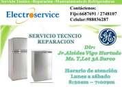 Servicio técnico refrigeradoras general electric telf.:2748107/venta de repuestos
