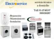 Mantenimiento y servicio técnico klimatic.-*_-* refrigeradoras lavadoras...988036287