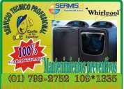 *whirlpool.técnicos expertos en mantenimiento de centro de lavados /7992752-barranco