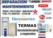 Serviciotecnico de termas electricas,gas 6687691/mantenimientos