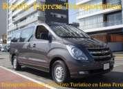 Transporte turistico privado a ica nazca paracas en vans h1