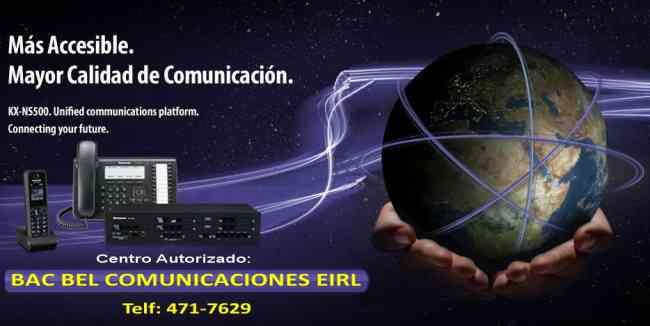 CENTRAL TELEFONICA PANASONIC - TELÉFONOS PANASONIC - VENTA Y SERVICIO - BAC BEL COMUNICACIONES EIRL