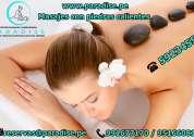 masajes con piedras calientes o geotermales