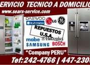 Repair [indurama- daewoo] servicio tecnico de refrigeradoras, congeladores