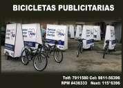 Bicicletas publicitaria corporativa .