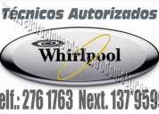 Whirlpool - kenmore  2761763 servicio tecnico de lavadoras -secadoras a domicilio