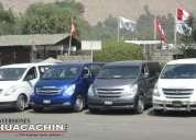 Alquiler de custer y minivan