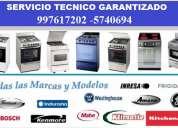 Servicio tecnico cocinas electricas, gas, vitroceramica/klimatic, mabe, general, otros//997617202