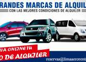 Alquiler carros chiclayo