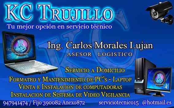 SERVICIOS DE COMPUTADORAS A DOMICILIO EN TODO TRUJILLO 947941474