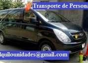 Alquilo unidades de transporte carga combi panel, transporte turístico y personal h1 minivan.
