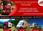 transporte de carga pesada y liviana - rozam operador logístico