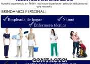 Agencia de empleadas domesticas, enfermeras y niñeras en lima
