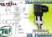 Sensores y detectores  de presion transmisores y transductores
