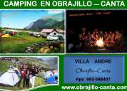 Camping en obrajillo - canta - disfruta el contacto con la naturaleza con tus familiares o amigos