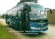 Alquiler de unidades para servicio de transporte de personal y turistico!