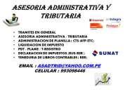 Asesoria administrativa y tributaria