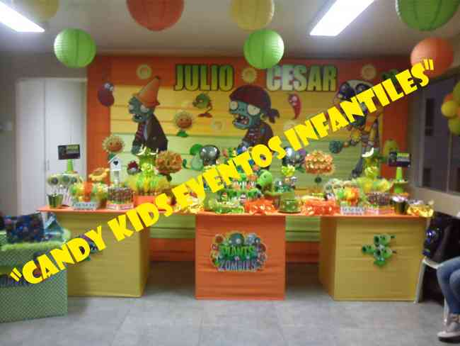 Decoracion de plantas vs zombies para fiestas infantiles for Decoracion con globos plantas contra zombies