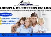 agencia de empleadas del hogar, agencia de niñeras en lima