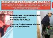 Fumigaciones christiam love sac, fumigadores, empresa de saneamiento ambiental lima peru