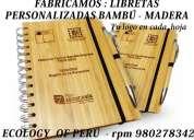 Libreta ecolÓgica, libreta con lapicero bambÚ