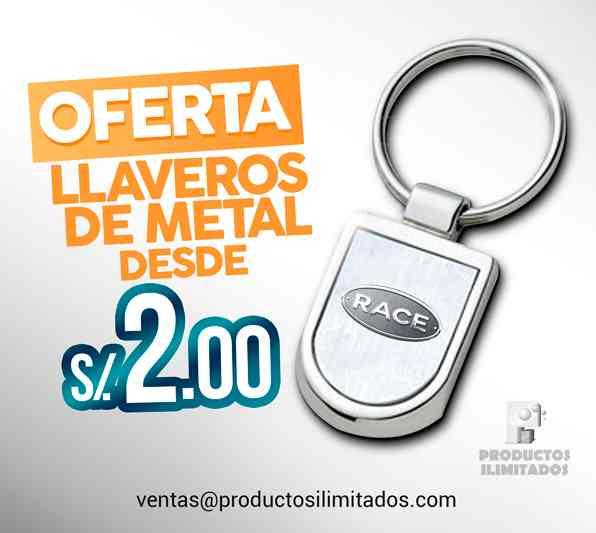 LLAVEROS PUBLICITARIOS DE METAL desde S/ 2.00