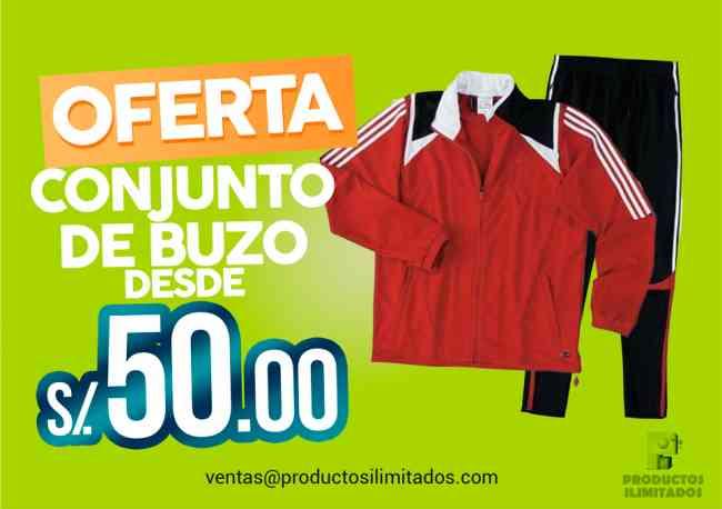 CONJUNTO DE BUZO PUBLICITARIO  desde S/ 50.00