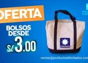 bolsos publicitarios desde s/.3.00