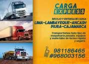Transporte de carga lima lambayeque ancash piura cajamarca