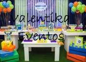 Decoración de mosnter inc para fiestas infantiles  en lima