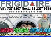 Técnicos a domicilio lavadora frigidaire (ate)