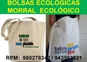 Bolsas publicitarias ecologicas  morral ecoloÓgico