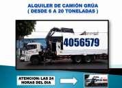 Alquiler de camion grua y grua / peru,consultar!