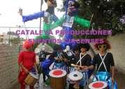 Show de batucada peru comparsa malabaristas clouns sanqueros mimos