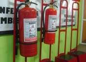Venta y recarga de extintores, luces de emergencia, detectores humo, señales, gabinetes, pedestales