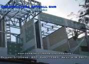 Ampliacion y remodelacion en sistema drywall para departamentos y oficinas