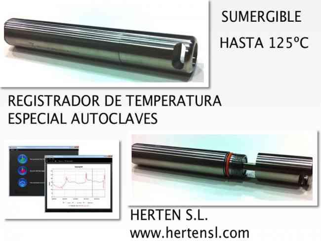REGISTRADOR DE ALTA TEMPERATURA SUMERGIBLE ESPECIAL AUTOCLAVES