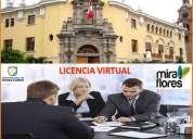 alquiler de oficina virtual con licencia  en exclusiva zona de miraflores