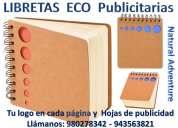 Libreta ecolÓgica con lapicero
