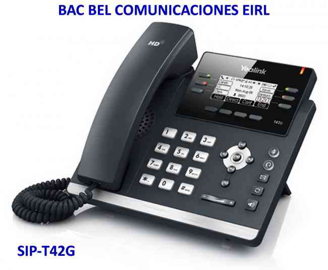 YEALINK - TELÉFONO IP - COMUNICACIONES UNIFICADAS - BAC BEL COMUNICACIONES EIRL