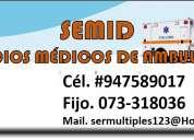 servicios de ambulancias - semid