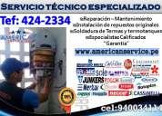 Immediate/ servicio tecnico de termas klimatic khor t:424-2334