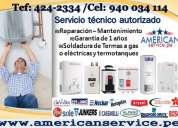 Rescue/ servicio tecnico de termas rotoplas- humax 424-2334