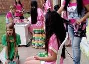 Uñitas , peinado,caritas pintadas y maquillaje para fiestas infantiles happy face