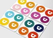 Impresion de stickers, etiquetas de cd, adhesivos, imprenta volantes .