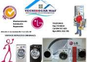 Servicio tÉcnico –7338618- tecnihogar m&f  // lavadoras lg
