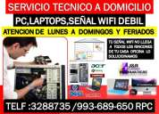 Soporte tecnico reparacion a computadoras,laptops,internet wifi,a domicilio