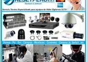 servicio instalación cámaras de video vigilancia,dvr, reparación,ptz,cableado,configuración,ip,r