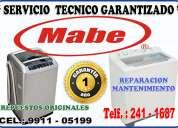 servicio técnico garantizado mabe  de lavasecas 2411687