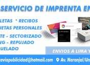 servicio de: facturas - volantes - tarjetas personales